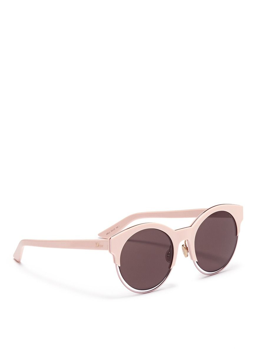 a58978e4356d6c Dior  sideral 1  Metallic Rim Acetate Cat Eye Sunglasses in Pink   Lyst