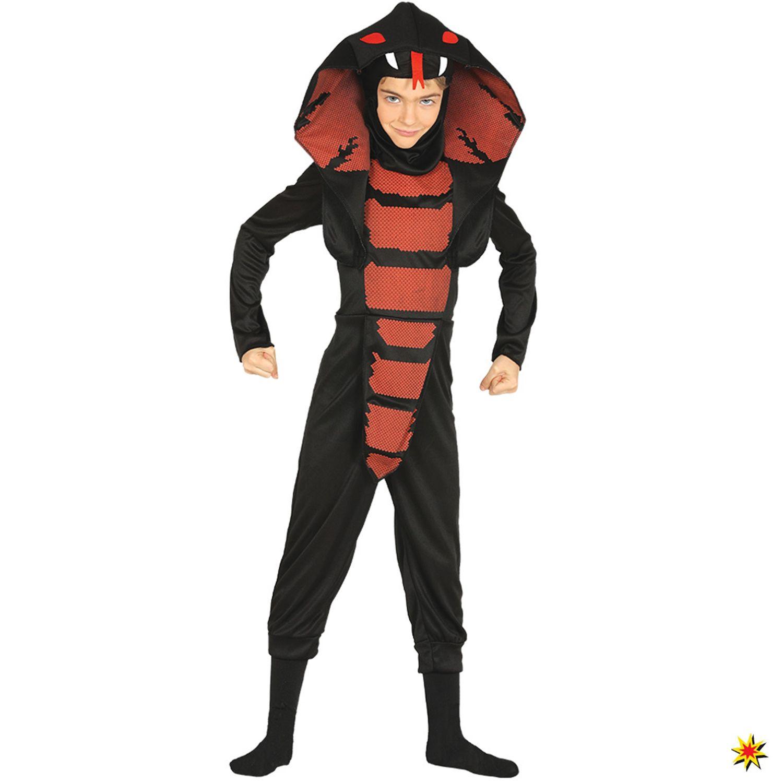 Kinder Kostüm Schlange Kobra Ninja Größe L 7 9 Jahre In 2019