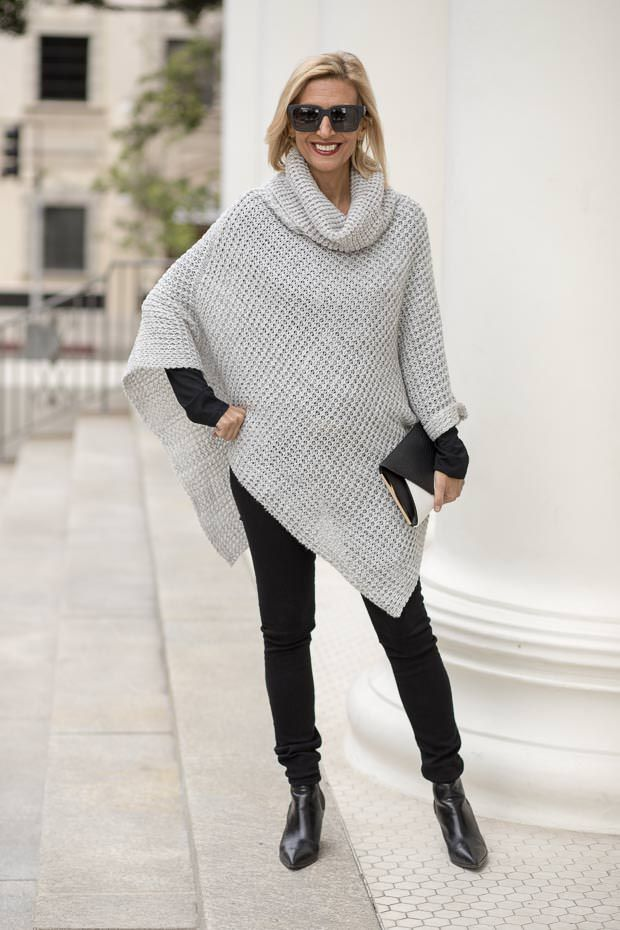 Two New Sweater Knit Pull On Ponchos | Jacket Society