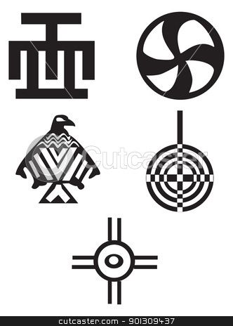 American And African Symbols Indians Stock Vector 3 Pinterest