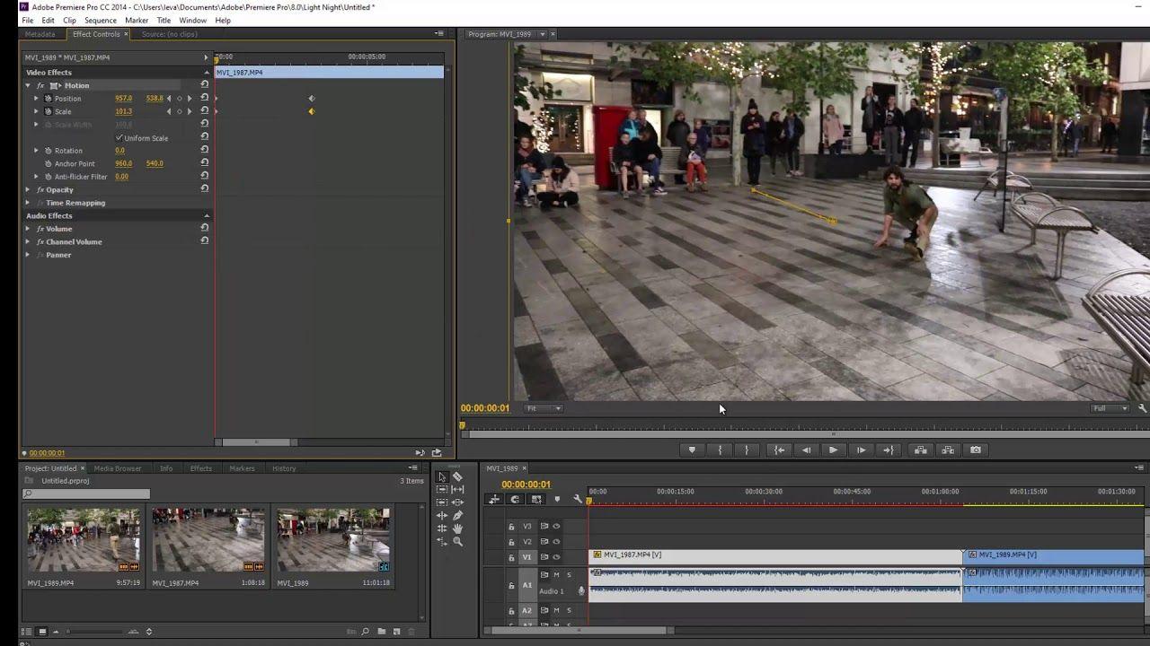 Premiere Pro Animate The Scale Position Rotation Of Images Using Ke Premiere Pro Video Channel Premiere