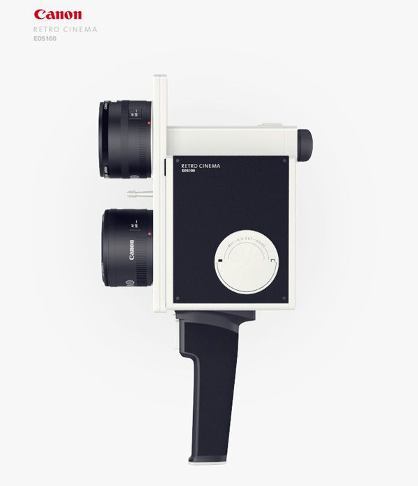 Hipster Cinema    In keeping with the latest vintage camera fad, the old-school look of the Canon Retro Cinema by Maxim Mezentsev & Aleksandr Suhih is merely a disguise.  Inspired by cinemas of the 60s & 70s, it's sure to catch the attention of hipsters everywhere.    Designers: Maxim Mezentsev & Aleksandr Suhih