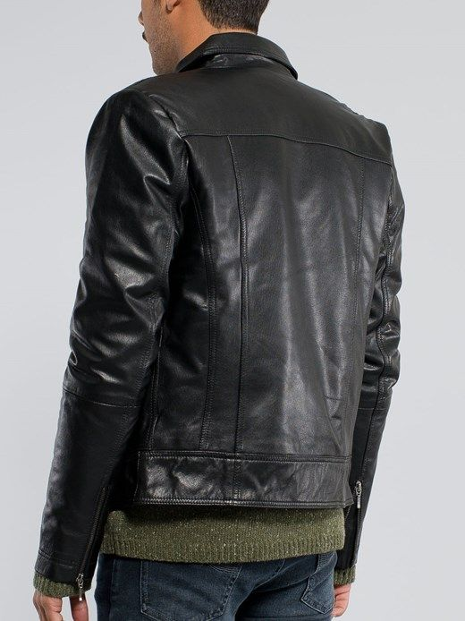 Jonny Leather Jacket Black - Nudie Jeans Online Shop | Leather ...