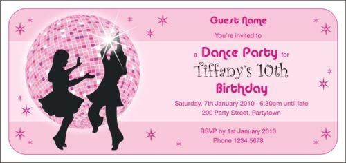 Disco Dance Invitations By Wwwpartyinvitationscomau Pink - Party invitation template: dance party invitations templates