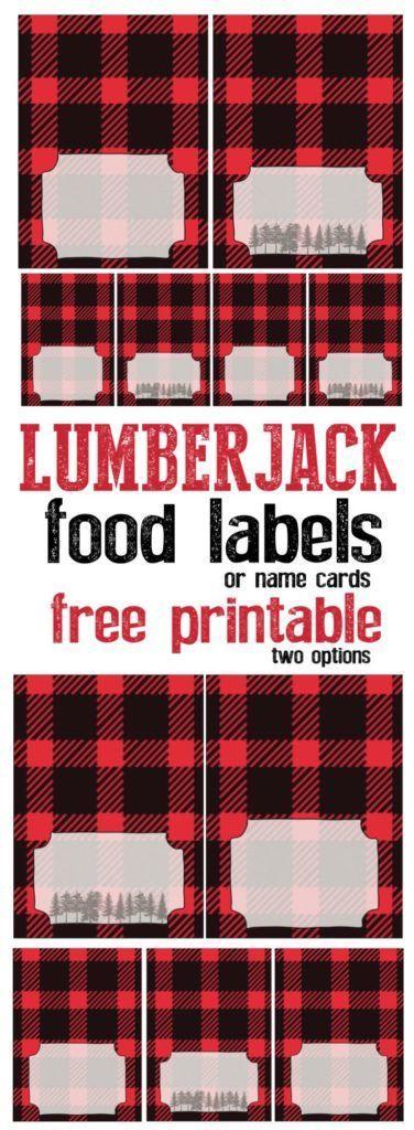 Lumberjack Food Labels Free Printable | Lumberjack ...