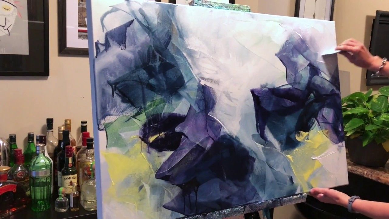Abstract Painting Techniques Using Acrylics Timelapsed