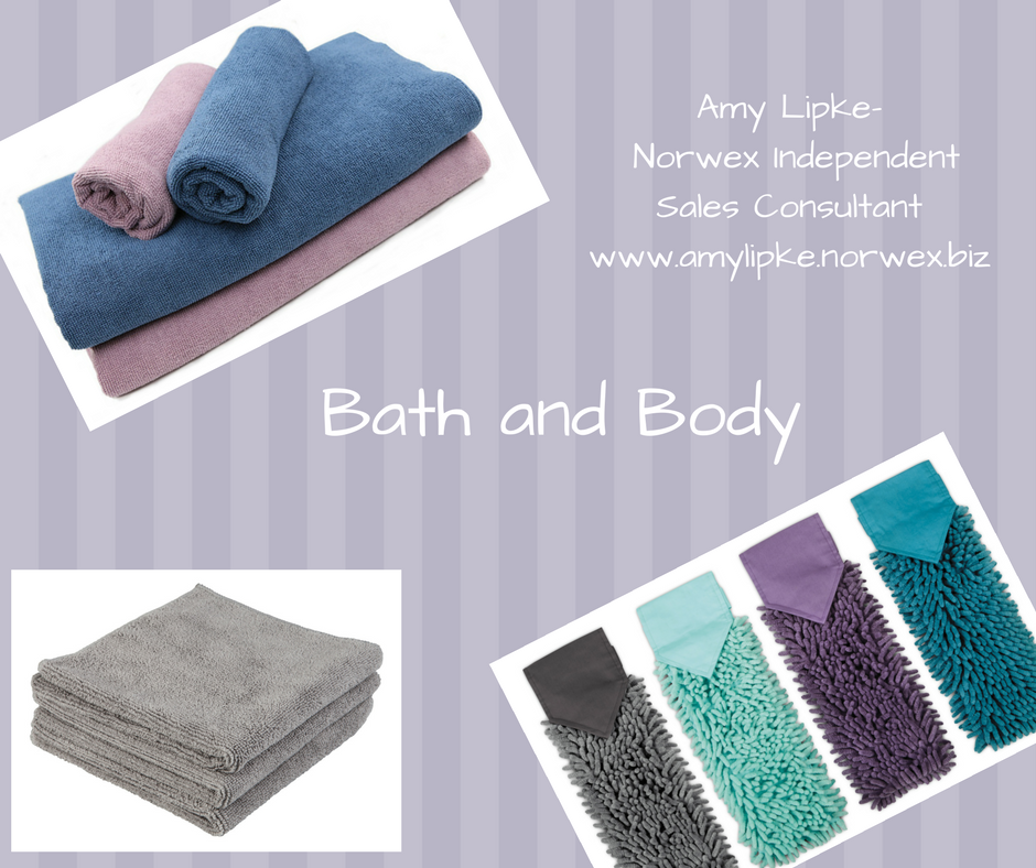 Norwex bath towels, body cloths, and chenille hand towels