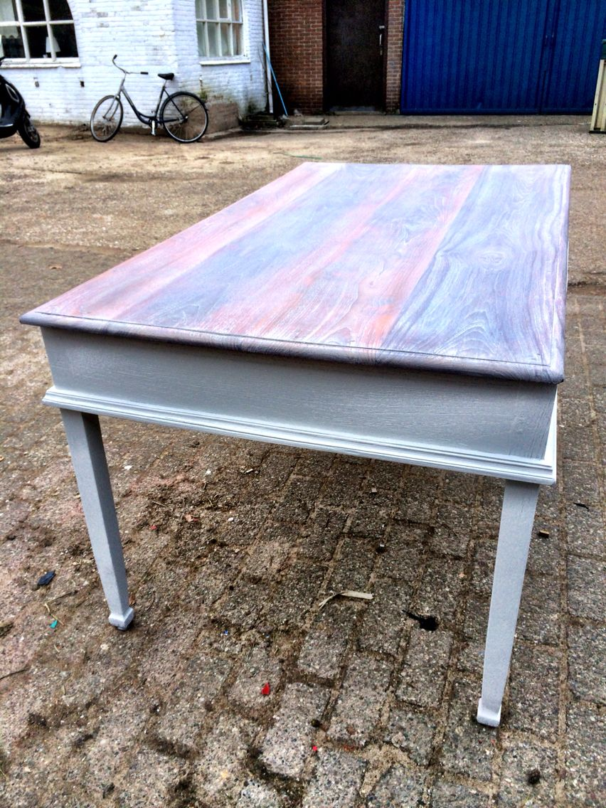 Gerestylde Side Table.Wooden Table Restyled By Olivia S Brocante Www