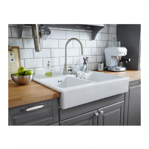 Clean Ceramic Sinks In Kitchen Super smart clean lined double bowl kitchen sink the two same super smart clean lined double bowl kitchen sink the two same workwithnaturefo