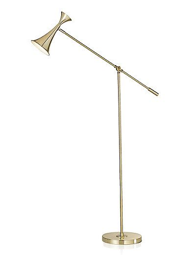 Naples Brass Floor Lamp | M&S