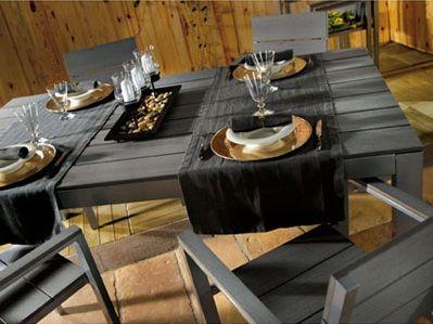Salon de jardin en alu gris b ton maison deco outdoor decor home decor et home - Salon gris beton ...