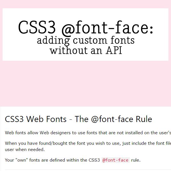 Http Www W3schools Com Css Css3 Fonts Asp Web Font Custom Fonts Css