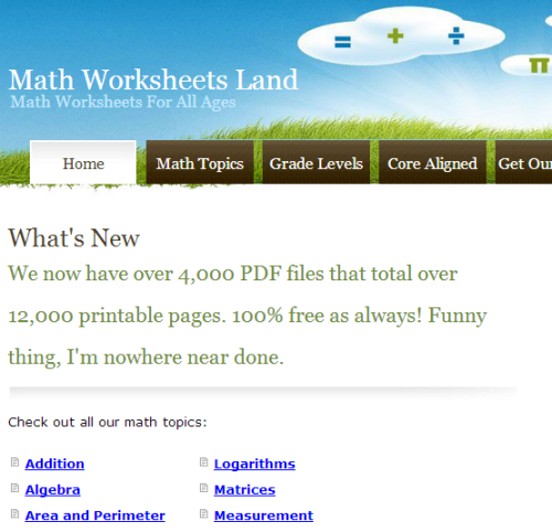 Math Worksheets Land - Printables website with over 4,000 math ...