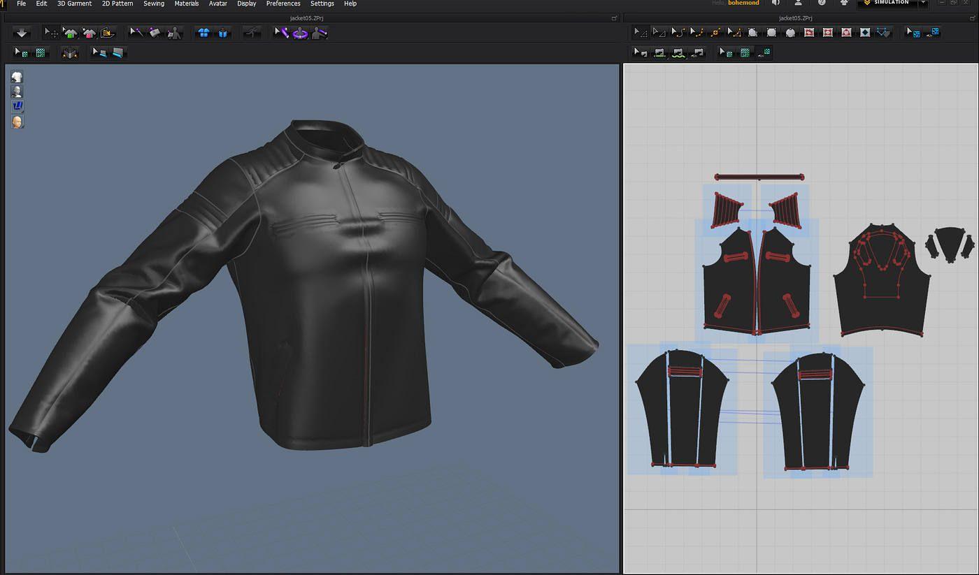 Marvelous Designer Leather Jacket Google Search Marvelous