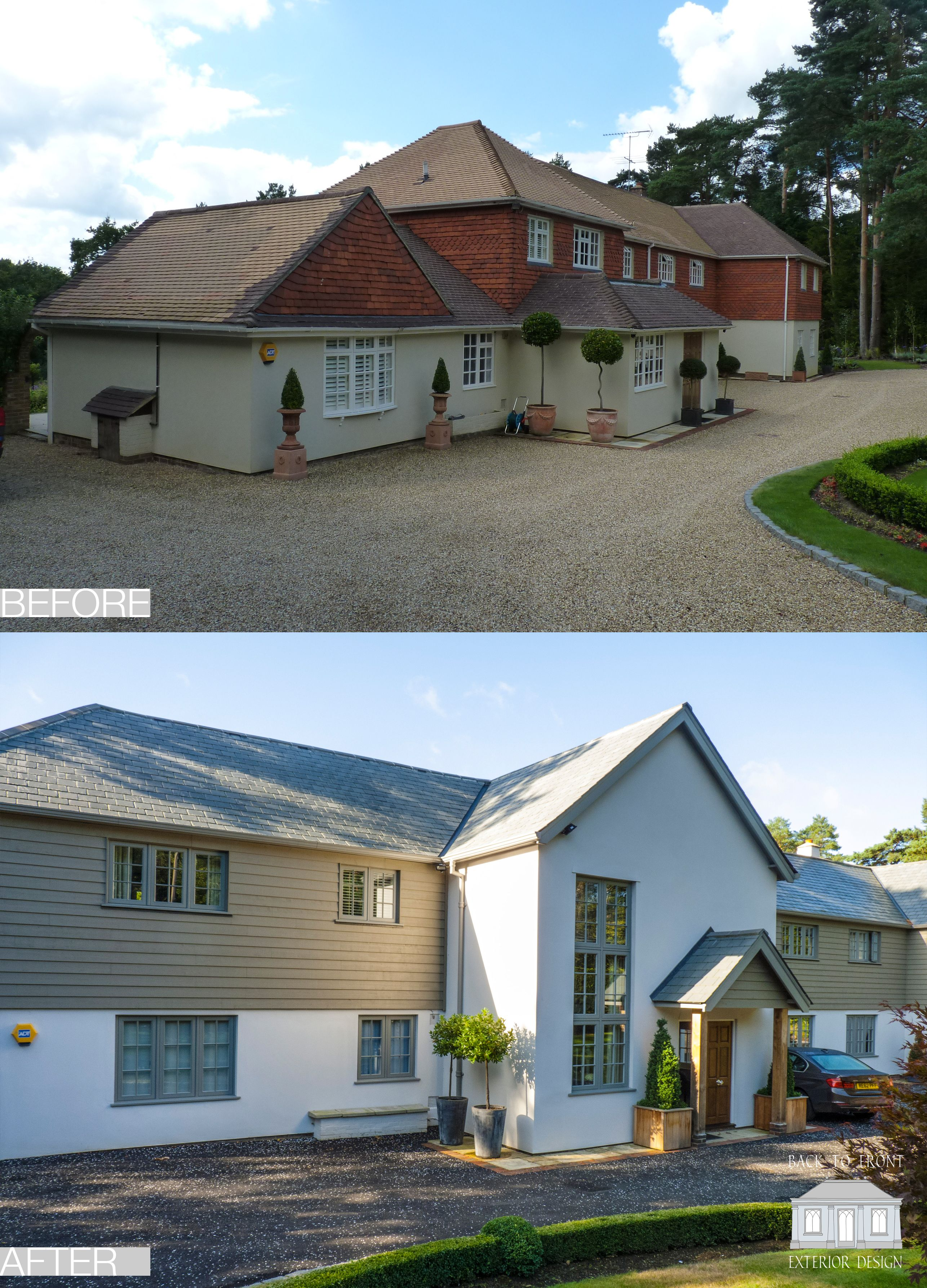 Captivating How To Change The Facade Of Your Home. Exterior Transformation By Back To  Front Exterior