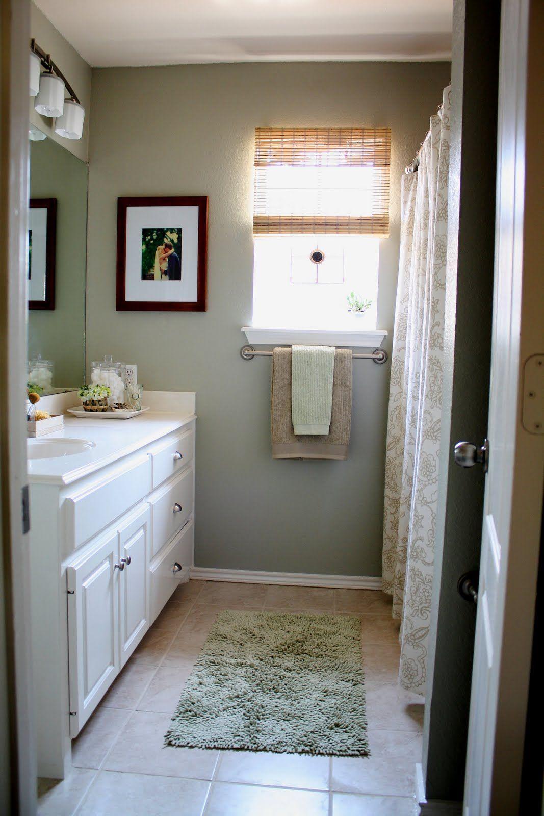 gray and tan bathroom