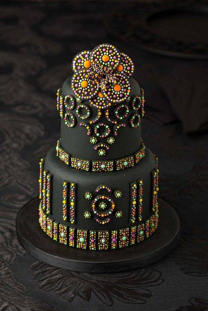 beautiful artwork - black cake // multi colors