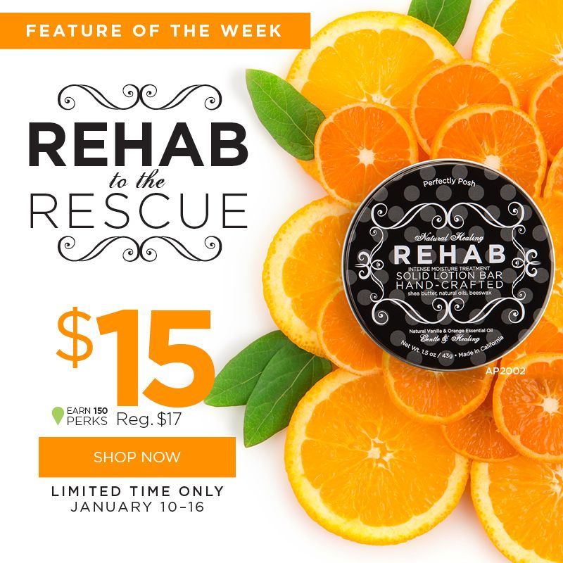 Only a couple more days to get the FEATURE OF THE WEEK!!   This is a nifty lotion bar that really works! You won't regret it.  www.perfectlyposh.com/layceksmith