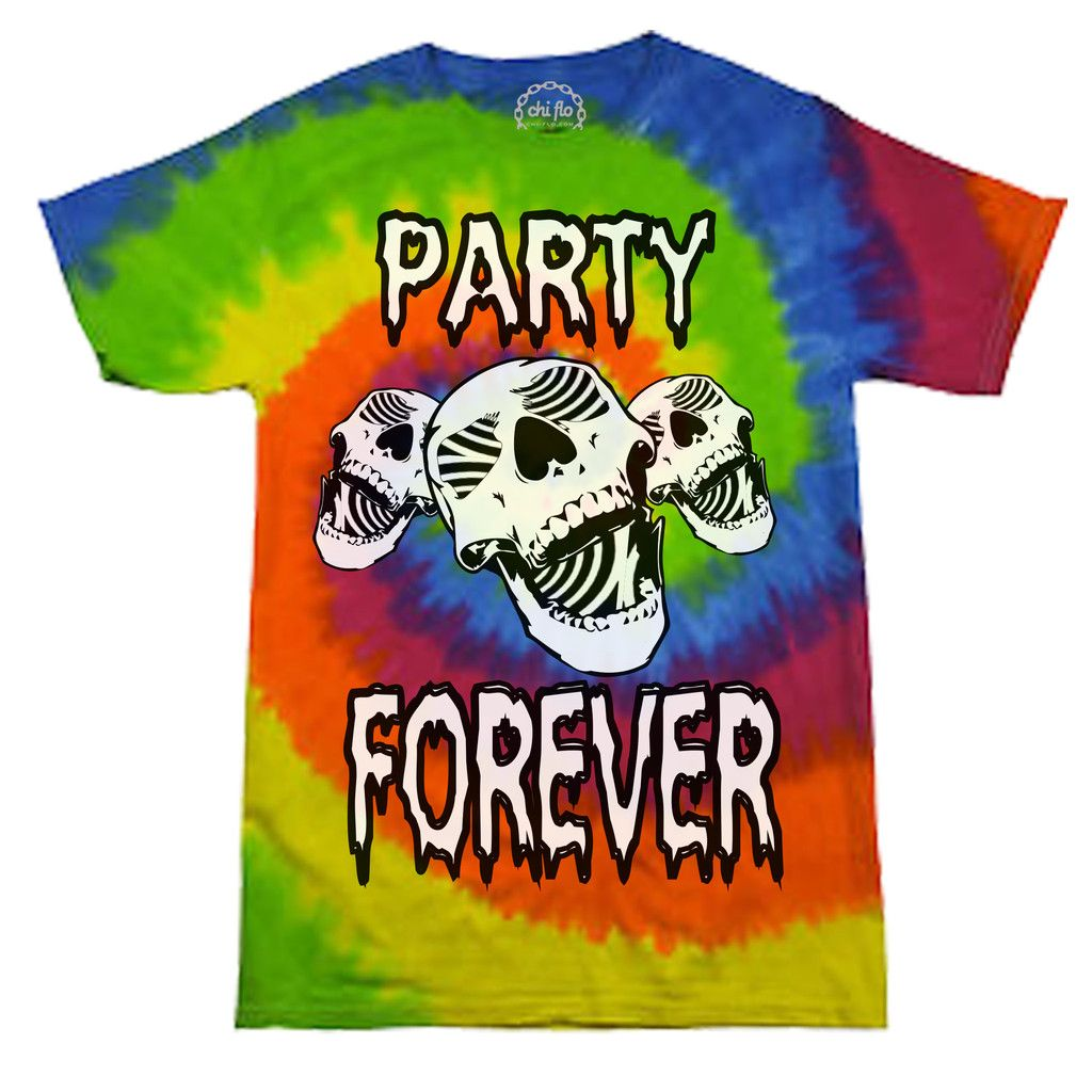 Party Forever  Men's Tie Dye Crew