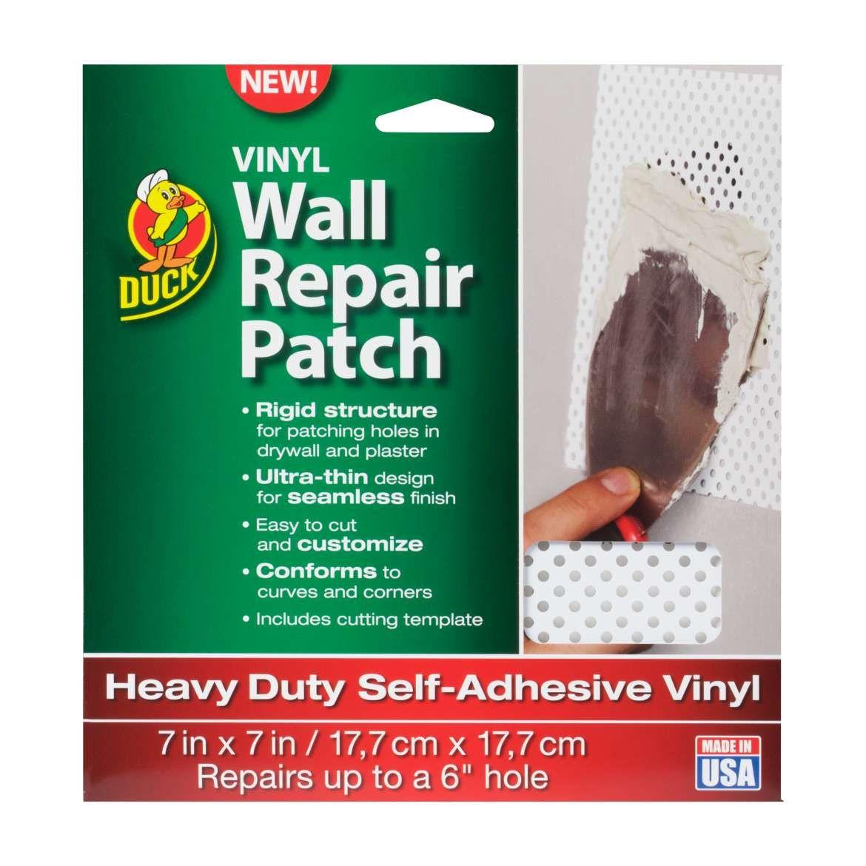 White Vinyl Wall Repair Patch Tape Duck Brand Vinyl
