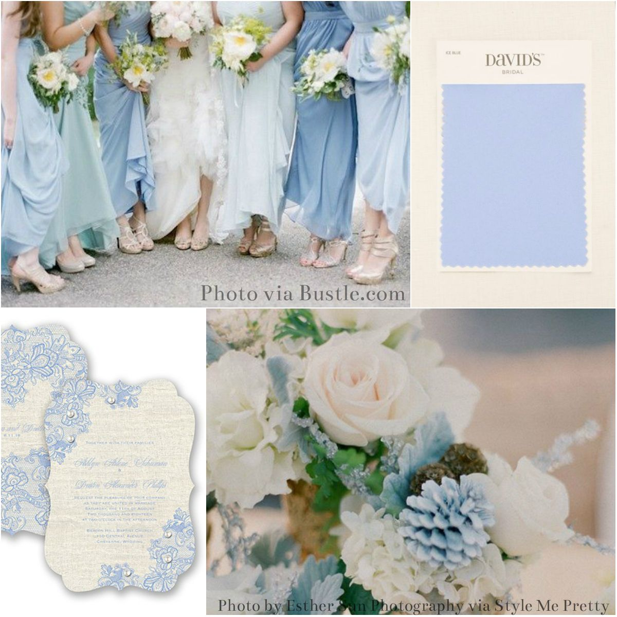 Ice Blue From David S Bridal Goes Perfectly With Pantone S