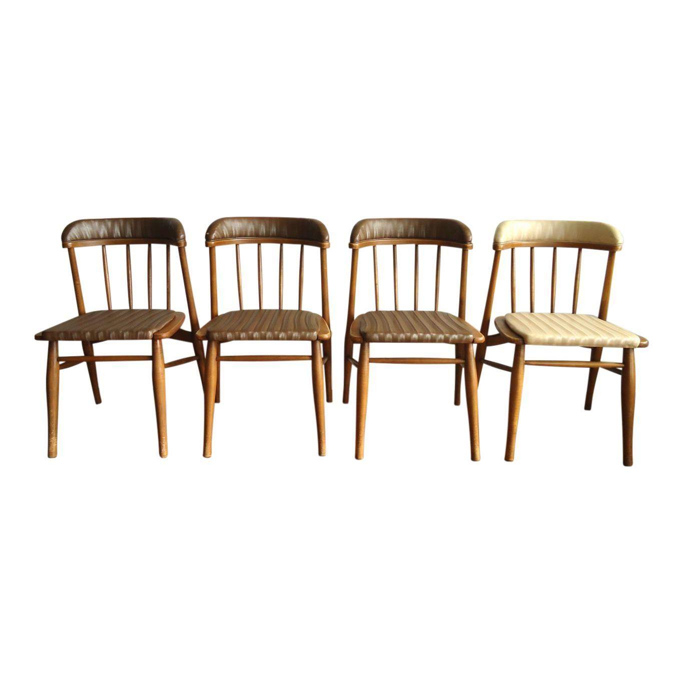 Mid Century Modern Dining Chairs Set Of 4 Esszimmerstuhle Und