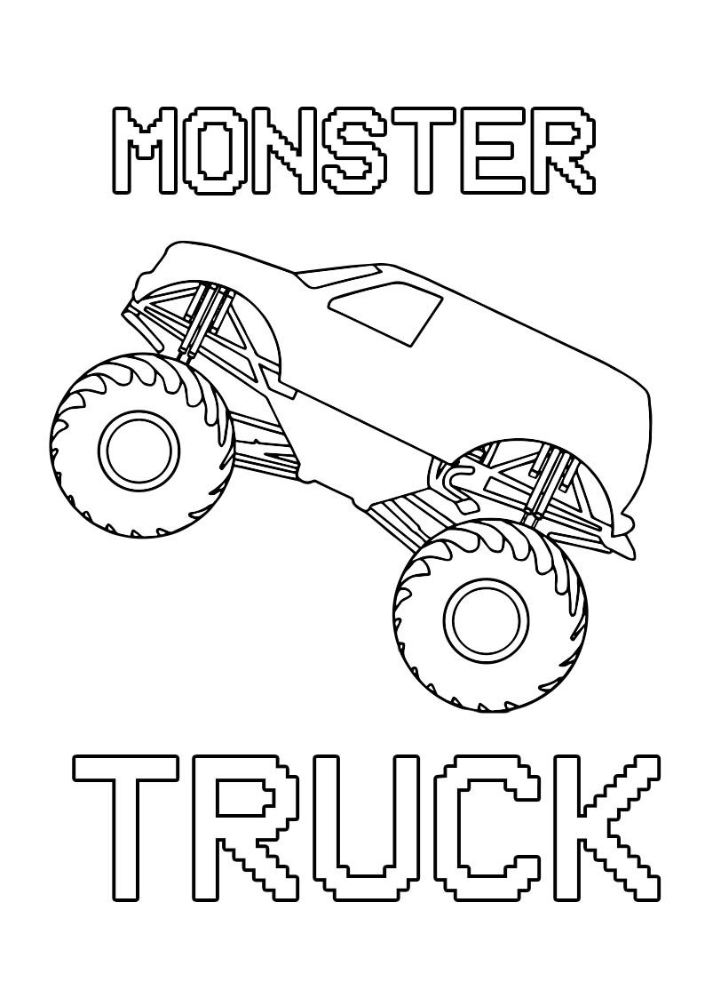 Free Printable Monster Truck Coloring Page Only For Kids Monster Truck Coloring Pages Monster Trucks Truck Coloring Pages