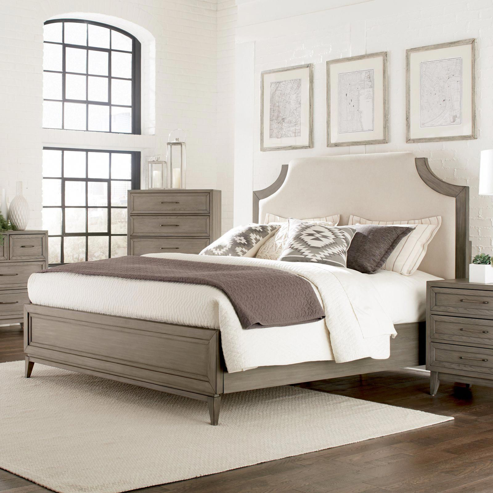 Riverside furniture vogue upholstered bed size queen