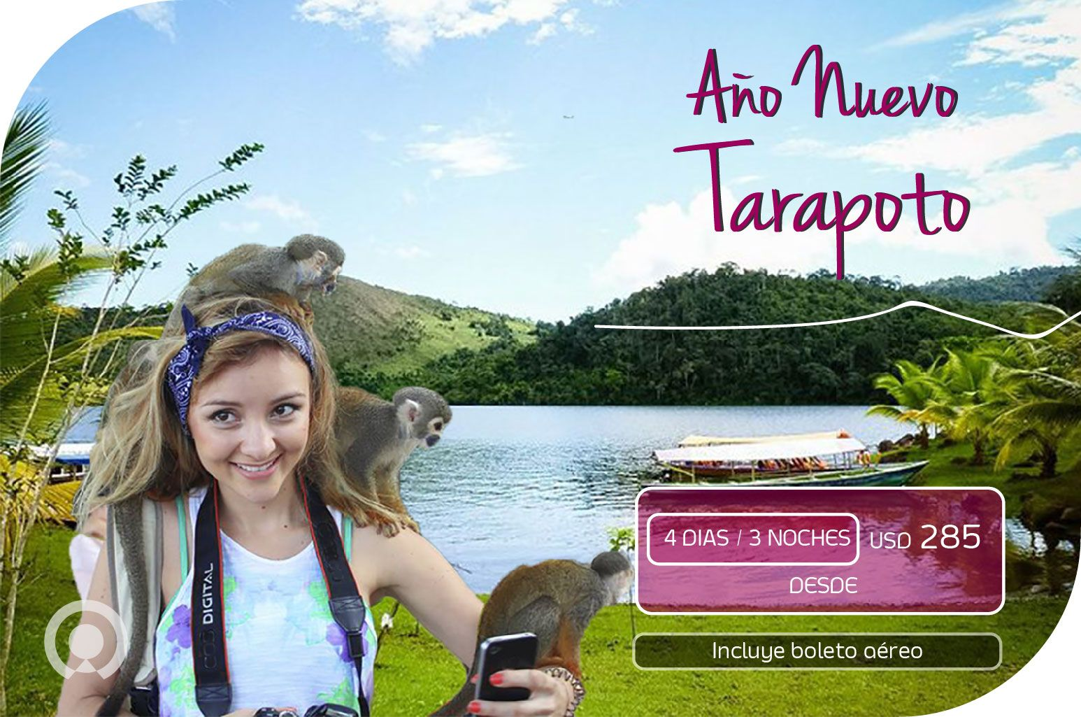 Vive una experiencia incomparable en #Tarapoto, recibe el nuevo año con la mejor energía de la selva. Tu viaje empieza aquí: https://goo.gl/BBWy9B  Incluye: Boleto aéreo Lima Tarapoto Lima + Traslado Aeropuerto/Hotel/Aeropuerto + 03 noches de alojamiento con desayuno + Visita a la Catarata de Ahuashiyacu + Entradas y guías especializados.