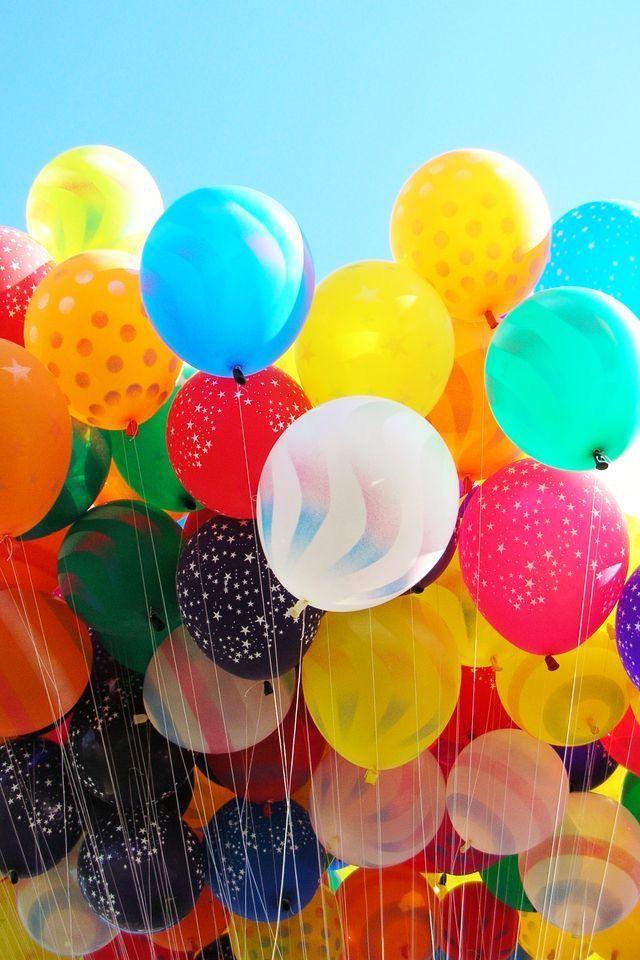 Открытки с воздушными шариками на день рождения
