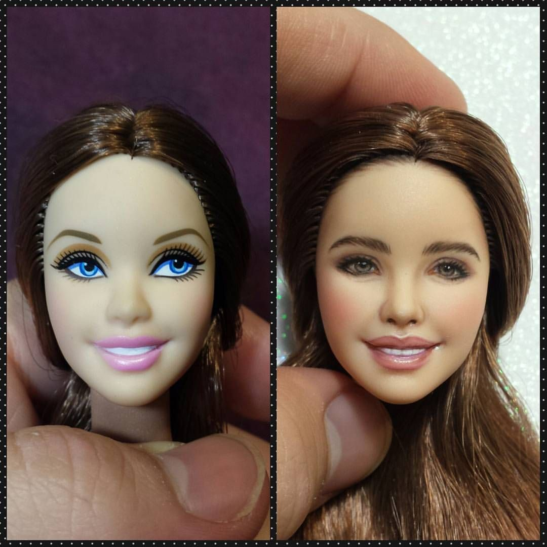 Doll Maker Barbie Instagram Photo By Jcrdreamdolls Custom Barbie Doll Repaint Tutorial Doll Face Paint