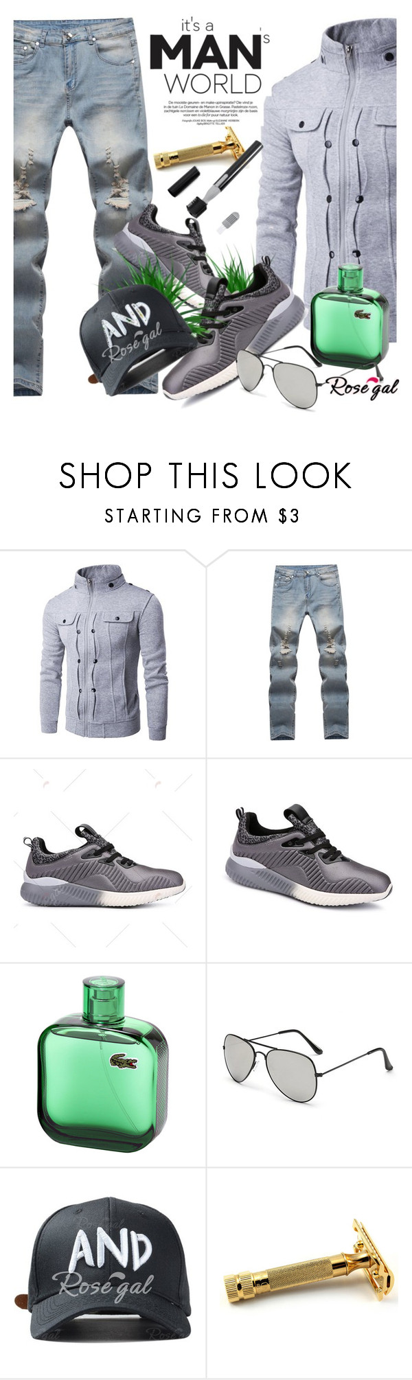 """Win $20 Cash from Rosegal!"" by selmir ❤ liked on Polyvore featuring men's fashion and menswear"