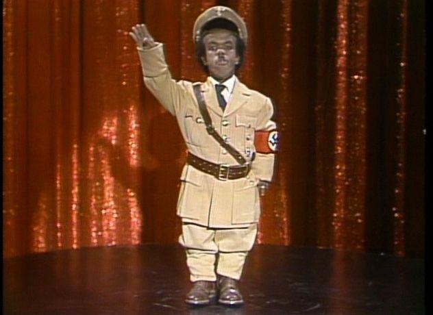 Midget in nazi uniform