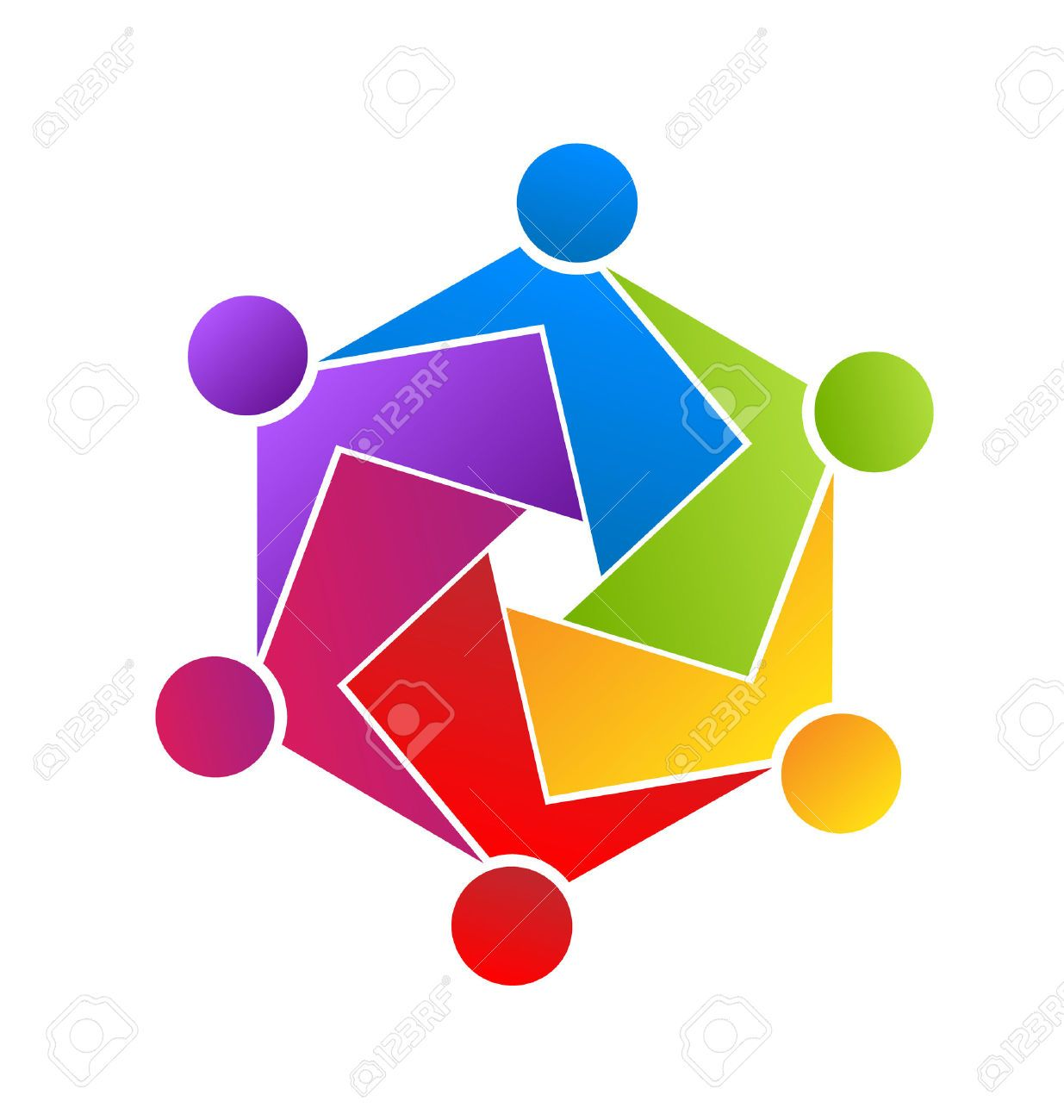 Teamwork Unity People Icon Royalty Free Cliparts, Vectors ...