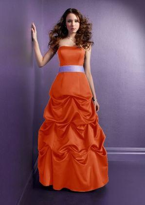 with the same color sash as dress