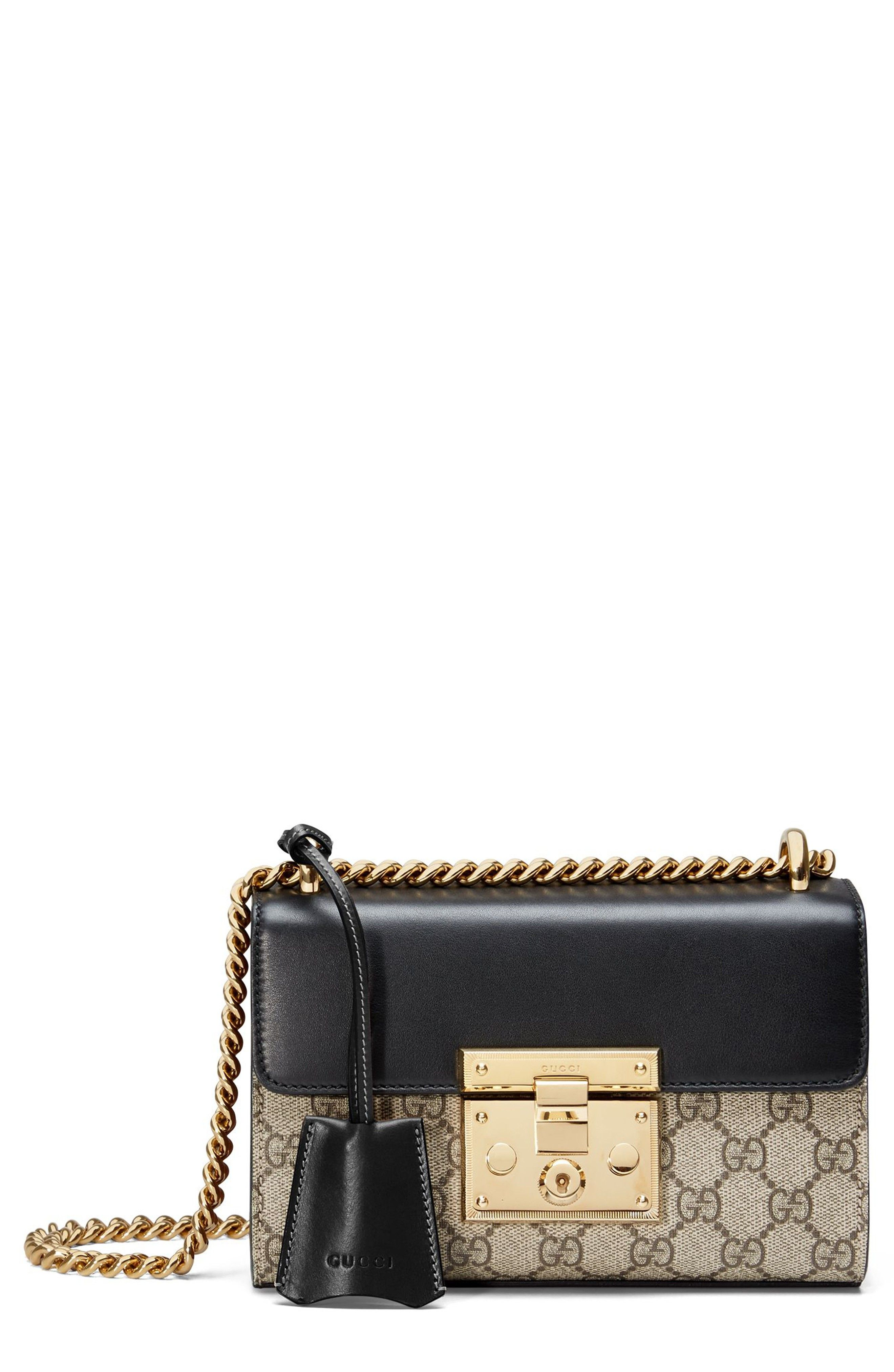 e436a97ec0b GUCCI Small Padlock Gg Supreme Canvas   Leather Shoulder Bag - Beige ...