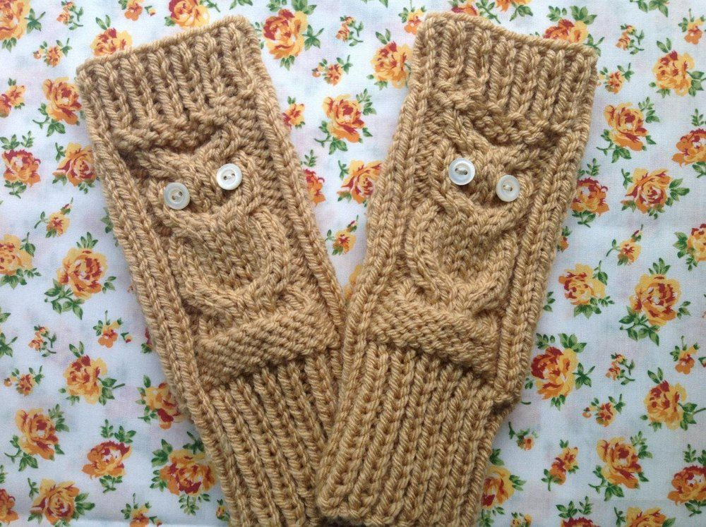 Owl Gloves   Work flats, Chunky yarn and Hand warmers