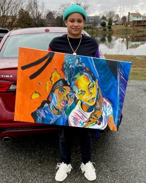 Happy customer thanks @the.reall3x. #mecolofuls #artforsale #selfieart #selfieartist