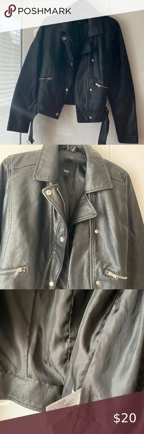 Nwot Black Faux Leather Moto Jacket M Black Faux Leather Moto Jacket Faux Leather Moto Jacket Leather Moto Jacket [ png ]