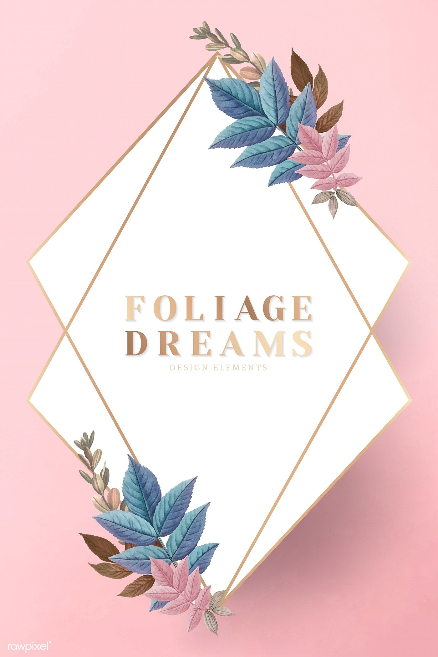 Foliage dreams leaf patterned frame vector free image by