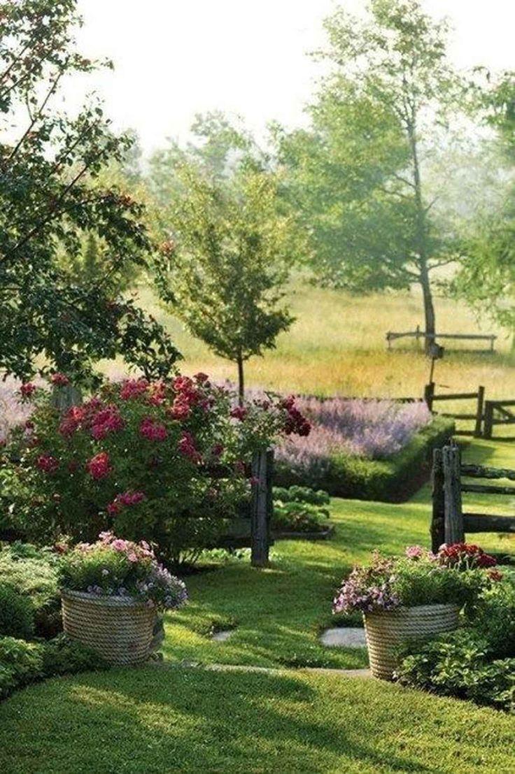 100 atemberaubende Vorgarten Cottage Garden Inspiration Ideen #frontyardlandscaping