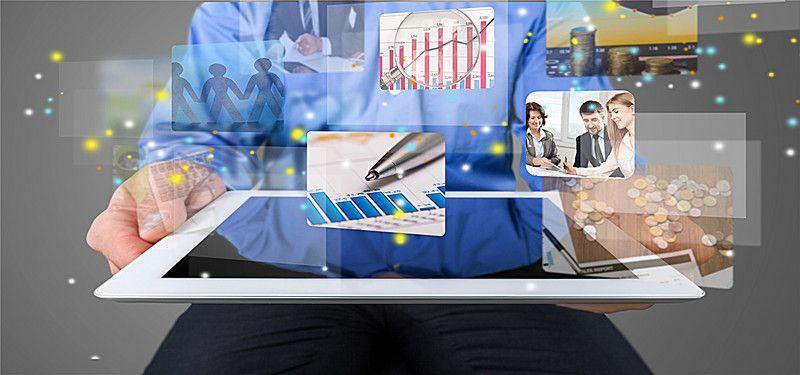 Take Board Computer Technology Background Business Man In 2020 Computer Technology Technology Background Affordable Web Design