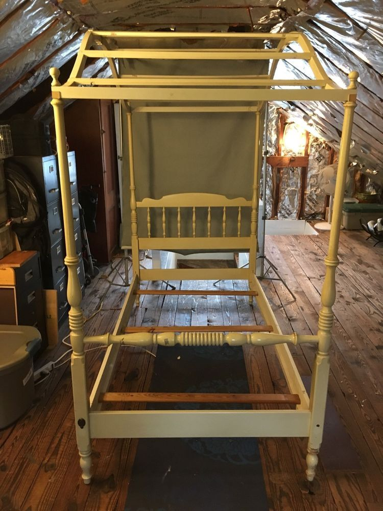 Ethan Allen Heirloom Maple Twin Canopy Bed Americantraditional
