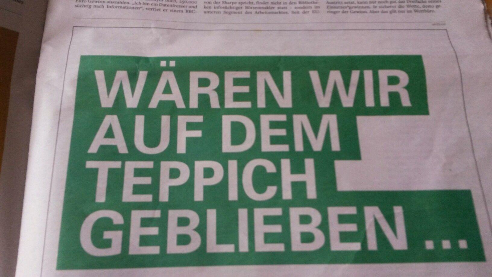#Vorwerk #HR #print in der Welt am Sonntag. Seite 1 von 2.