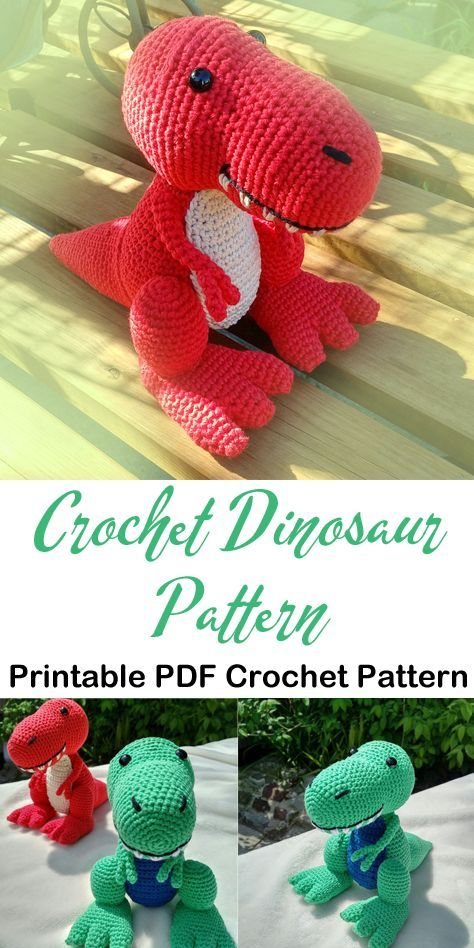 Make a Cute Dino #crochetdinosaurpatterns