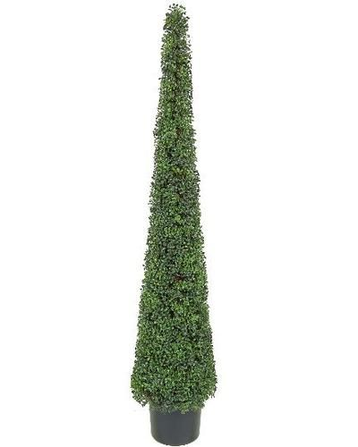 One Artificial 6 Foot Tea Leaf Outdoor Topiary Tree Plant Cone Tower Evergreen Ebay