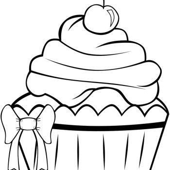 cupcake strawberry coloring page  cupcake coloring pages coloring pages to print free