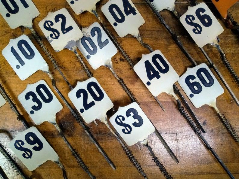 Cash Register Flag Table Numbers Wedding Restaurant