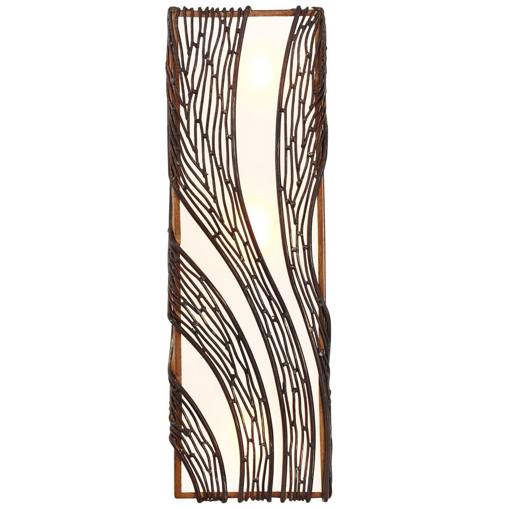 Flow 240W03HO 3-Lt Vertical Wall Sconce - Hammered Ore