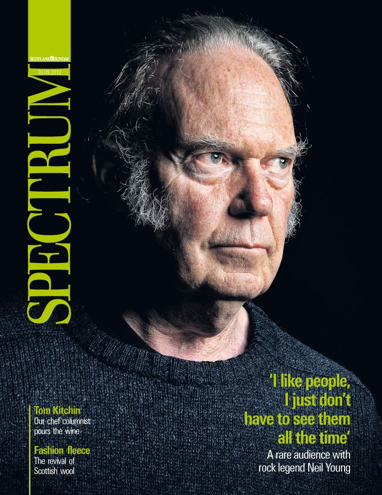Neil Young Spectrum magazine cover 30th September 2012